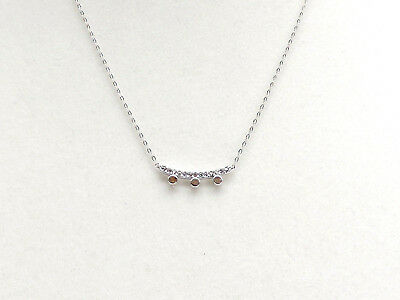 Nadri Crystal Eclipse Bar Pendant Necklace Pave Crystals Rhodium Plate New!