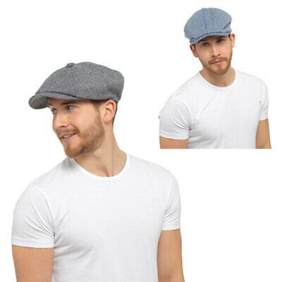Unisex Cotton 8 Panel Newsboy Bakerboy Flat Cap - 2 Colours, 2 Sizes
