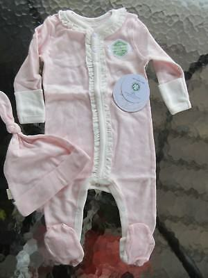 2fe06eba0 Burts Bees Baby Outfit Coverall Bodysuit Pink Organic Cotton Butterflies  3-6 mo