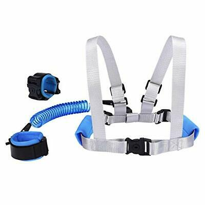 2 in 1 Toddler Leash Anti Lost Wrist Link Safety Harness Baby Child Key Lock