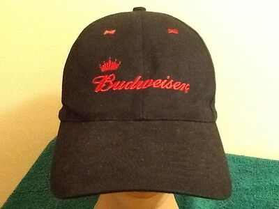 Budweiser Beer Black Hat Bud Snapback Cap Embroidered Cotton Trucker