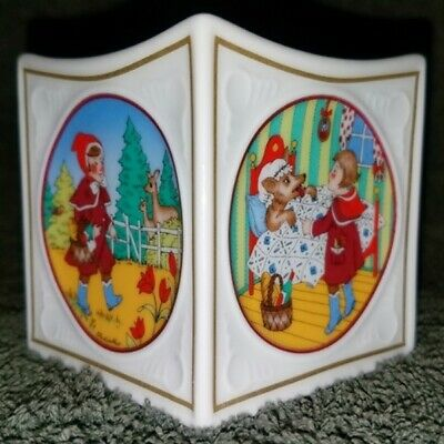 """Hutschenreuther of Germany FINE CHINA 2.5"""" Candle Holder LITTLE RED RIDING HOOD"""