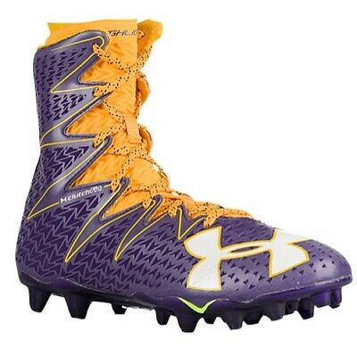 49f6b2b1c6a0 mens 10.5 under armour highlight MC molded lacrosse/LAX cleats 1269693-gold