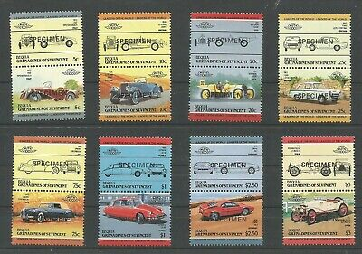 Bequia Grenadines Of St. Vincent-1984 Leaders Of Automobiles/cars Mnh Specimen