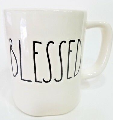 Rae Dunn by Magenta Farmhouse LL Blessed Coffee Mug Collection Brand New