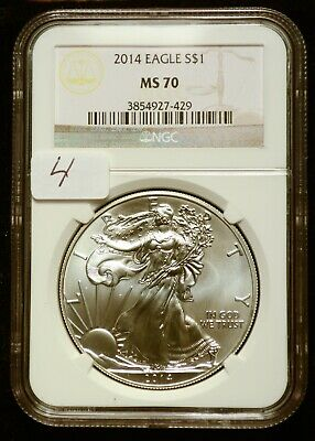 2014 Silver $1 American Eagle NGC MS70 $55 Value (#4)