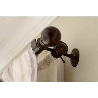Double Curtain Rod Bracket Durable Wall Ceiling Mount Sienna