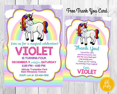 Personalized Digital Magical My Little Pony Birthday Party