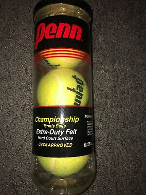 3 X Penn Championship Tennis Balls Brand New In Box