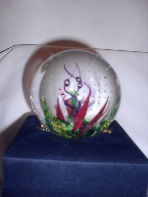 Glass Eye Studio Copper Blossom Paperweight New In Box Enviromental Series