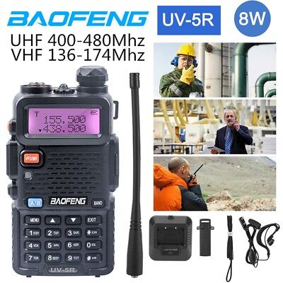 Baofeng UV-5R 8W VHF UHF Dual Band Walkie Talkie Two Way Radio Transceiver 128CH