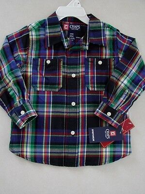 Chaps by Ralph Lauren Toddler Boy L/S Flannel Shirt 24M New