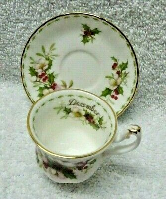 Royal Albert Flower of the Month December 1970 Miniature  Cup and Saucer