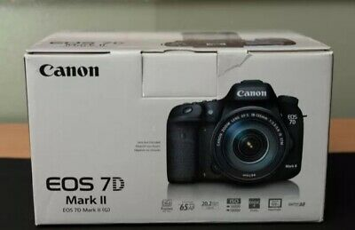 Canon EOS 7D Mark II 20.2MP Digital SLR Camera - Black + Extras Cf And Sd Card