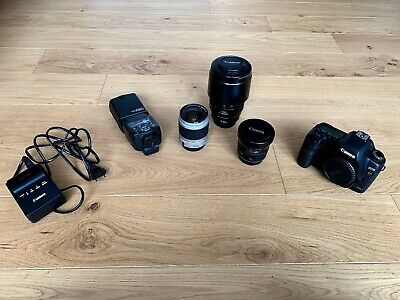 Canon EOS 5D Mark II 21.1MP 3 Zoll Display + 3 Objektive, 23698 Auslösungen