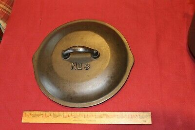 Martin Stove Range CAST IRON lid No. 8 skillet for frying pan chicken fryer