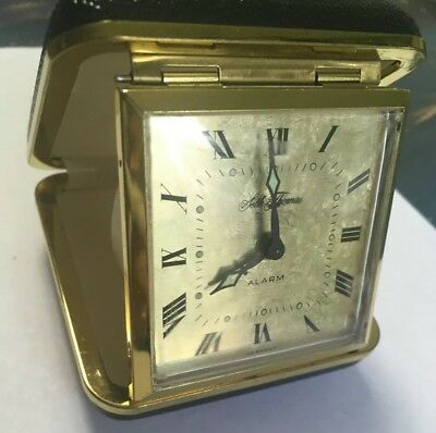 Vintage Seth Thomas WindUp Travel Alarm Clock Made In Germany With Case Mid Mod