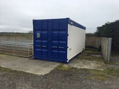 20ft sleeper/welfare/office container - toilet and shower - site cabin