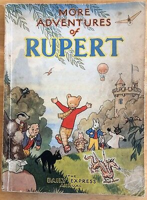 RUPERT 1947 RUPERT BEAR Annual 1947 Inscribed NOT Price clipped VG