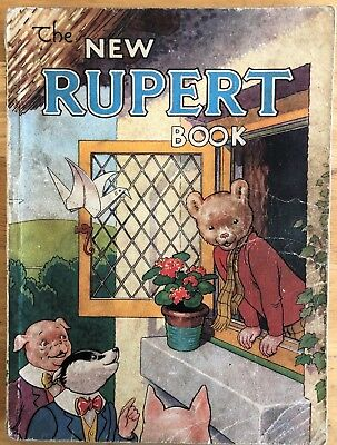 RUPERT ANNUAL RUPERT BEAR 1946 Inscribed NOT Price clipped G/VG