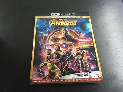 Avengers Infinity War ( 4K Ultra Hd +Blu-Ray+Digital Code ) Brand New Sealed