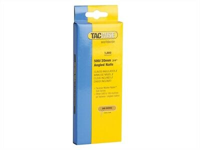 Tacwise TAC0479 500 18 Gauge 20mm Angled Galvanised Nails Pack 1000