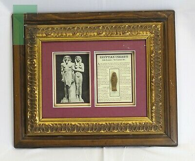 Egyptian Ushabti Framed Artifact 7th Century B.C. Framed Antiquity