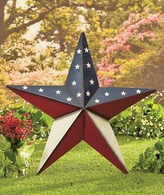 "Huge 24"" Country Rustic Patriotic American Pride Barn Star Flag Wall Art Decor"