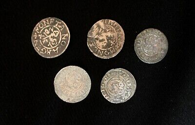 Eastern Europe, Medieval Period in the Baltic Sea - 17th C, Lot of 5 Silver Coin