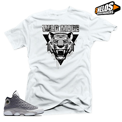 ff04e9be0d8e SHIRT MATCH JORDAN 13 Atmosphere Grey Retro Shoes -Bull Stars Grey ...
