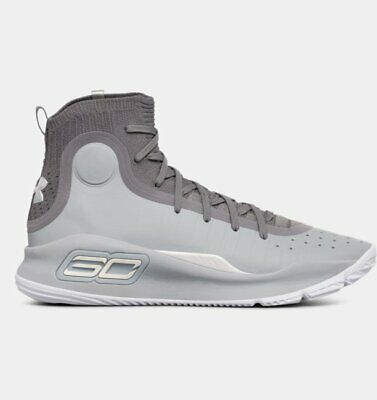 61734195e9e Ua Curry 4 Basketball Shoes Mens Size 11 New 1298306-107 Gray Under Armour