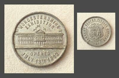 WORCESTERSHIRE EXHIBITION MEDAL 1882 (Worcester Engine Works, Shrub Hill) - 33mm