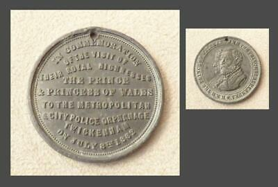 METROPOLITAN & CITY POLICE ORPHANAGE, TWICKENHAM 1882 MEDAL 32mm - Royal Visit