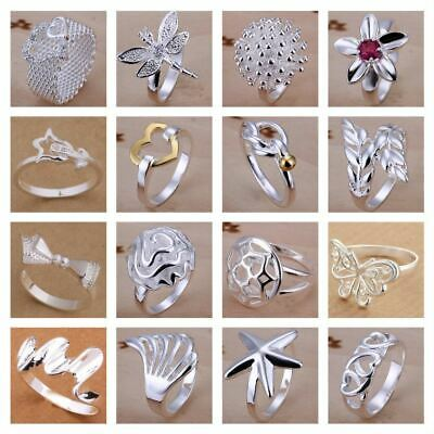 *UK Shop* 925 SILVER PLT STATEMENT RING P 1/2 SIZE LADIES THUMB TOE OPEN FINGER