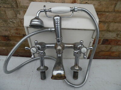 Original 1930s chrome bath mixer taps (ALSO SELLING 50+ SETS SEE LISTING)
