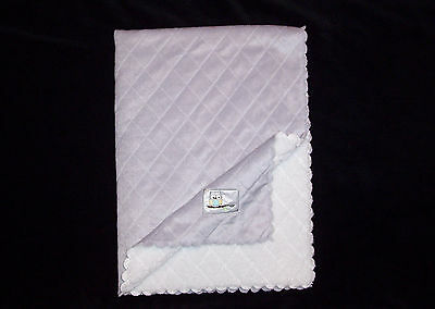 Carters Child of Mine Grey Quilted Baby Blanket Diamonds Owl Patch Sherpa Lovey