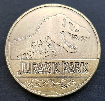 Jurassic Park Free Coin Stand And Brand New Fitted Coin Capsule