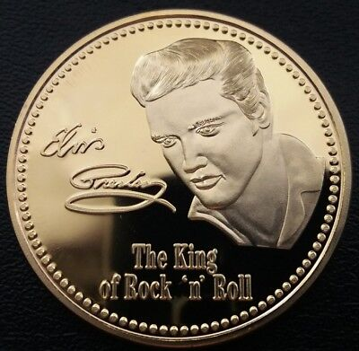 ELVIS PRESLEY The King Of Rock And Roll 1935-1977 Commemorative Coin FREE COIN S