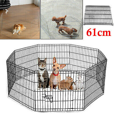 Large Pet Dog Pen Puppy Cat Foldable Playpen Indoor/Outdoor Enclosure Run Cage