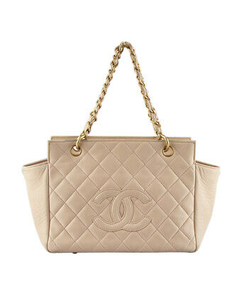 6857d0be48f4 CHANEL TIMELESS SHOPPER Pink Quilted Leather Tote - $1,300.00   PicClick