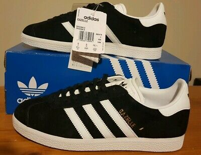 ADIDAS ORIGINALS MENS GAZELLE BLACK Size 6 (EUR 39 1/3) BRAND NEW WITH TAGS