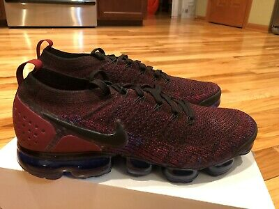 Nike Air Vapormax Flyknit 2 Black Blue Team Red 942842 006 Men's Size 11.5