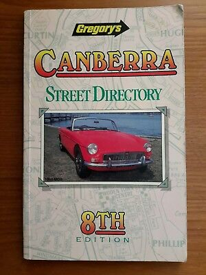 Vintage and Collectable Gregory's Canberra Street Directory 8th Edition 1989