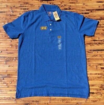 Foundry Polo Shirt Plus Size Mens XLT Big Tall Blue NEW