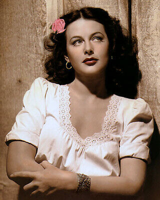"HEDY LAMARR TORTILLA FLAT 1942 HOLLYWOOD ACTRESS 8x10"" HAND COLOR TINTED PHOTO"