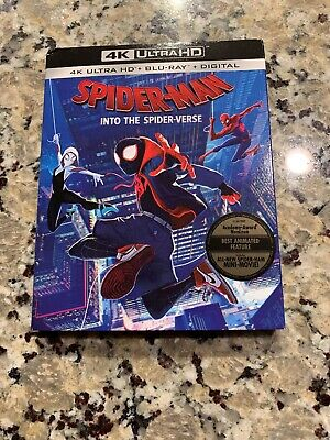 Spider-Man:into The Spider-Verse(4K Ultra Hd+Blu-Ray)W/slipcover No Digital