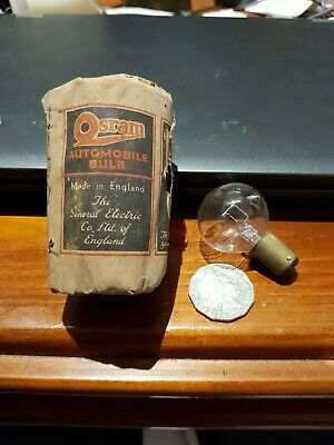 Vintage 6v 24 watt Automobile Bulb OSRAM original packaging