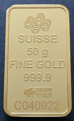 50g Gram PAMP Suisse Fortuna Fine Gold Bar Bullion 999.9 - NEW