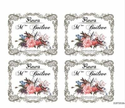 VinTaGe IMaGe PaRiS FRenCh FLoRaL SiGn LaBeL ShaBby WaTerSLiDe DeCALs