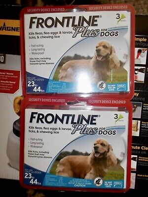 Frontline Plus for Dogs Medium Dog (23-44 pounds) 2 packs of 3 6 Doses
